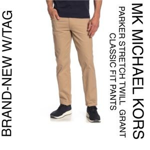 NWT MICHAEL KORS MENS TWILL CLASSIC FIT JEAN PANTS